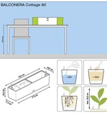 Lechuza Lechuza -  Balconera Cottage 80  Wit ALL-IN-ONE