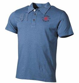 Pure Trash Polo-Shirt, mit Knopfleiste, blau, Pure Trash