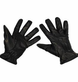 MFH Lederen handschoenen snijwerende kevlar zwart