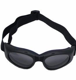 MFH Motorbril model 'Highway' zwart met hoofdband