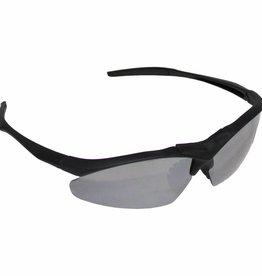 MFH Leger sportbril zwart kunststof spiegelglas