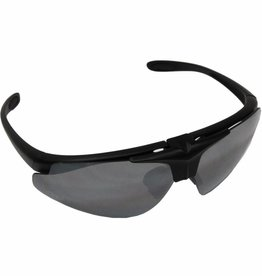 MFH Leger sportbril 'Hawk' zwart verschillende kleuren glas en kogelwerend