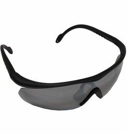 MFH Leger sportbril 'Storm' zwart verschillende kleuren glas en kogelwerend