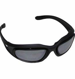 MFH Leger sportbril 'Assault' zwart verschillende kleuren glas en kogelwerend