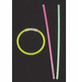 MFH Leuchtstab, Halsband dünn, div. Farben, 65 Stk./Rolle