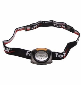 Fox Outdoor Fox Outdoor - Hoofdlamp 4 witte LED's 3 rode LED's opklapbaar zwart