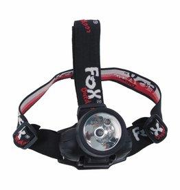 Fox Outdoor Hoofdlamp 3 LED's opklapbaar 1 gloeilamp 0 25 watt zwart