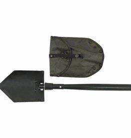 MFH pioniersschep / veldschep 2-delig olijfkleurig weersbestendige PVC draagtas