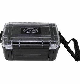 MFH Hiking box zwart waterdicht kunststof met uitneembaar draagnet / draagtas
