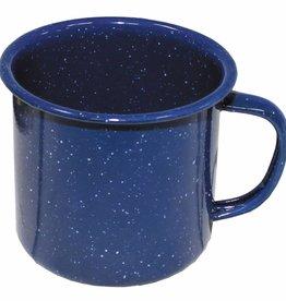 MFH Email-Tasse, blau, 350 ml, Durchm. 8 cm