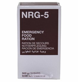 MFH Notverpflegung, NRG-5, 500 g, (9 Riegel), 7 % MwSt