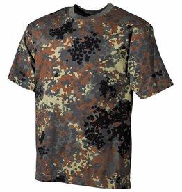 MFH BW T-Shirt, halbarm, flecktarn, 160g/m²