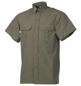 Fox Outdoor Outdoor Hemd korte mouwen olijf/legergroen Microfaser 2 Brusttaschen