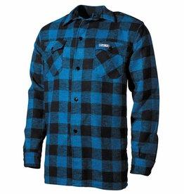 Fox Outdoor Houthakkershemd blauw/zwart geruit