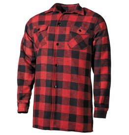 Fox Outdoor Houthakkershemd rood/zwart geruit
