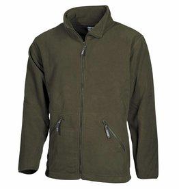 Fox Outdoor Fleece-Jas 'Arber' olijf/legergroen Full Zip