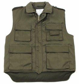 MFH US Body warmer Ranger olijf/legergroen gevoerd met veel vakken