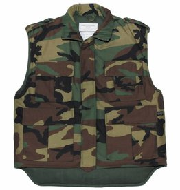 MFH US Body warmer Ranger woodland gevoerd