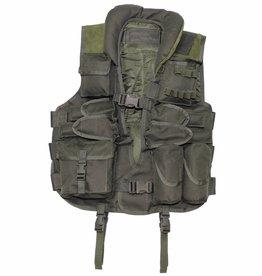 MFH Tactical vest olijf/legergroen met met leren versteviging