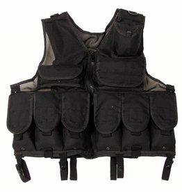 MFH Tactical vest Netzeinsatz zwart in grootte verstelbaar