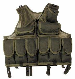 MFH Tactical vest Netzeinsatz olijf/legergroen in grootte verstelbaar