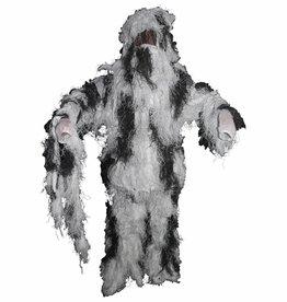 MFH Camouflage pak 'Ghillie Suit' (Jas broek en hoed) sneeuwcamouflage