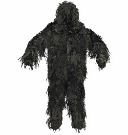 MFH Camouflage pak 'Ghillie Jackal' 3-D Body System woodland