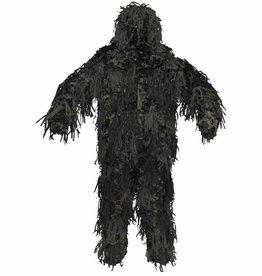 MFH Camouflage pak 'Ghillie Jackal' 3-D Body System woodland