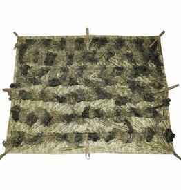MFH Camouflagedeken 'Ghillie' 2 x 1 5 m woodland