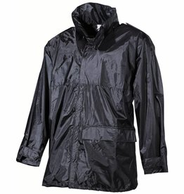 MFH Regenjack Polyester met PVC zwart