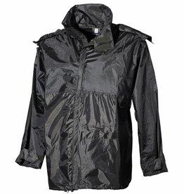 MFH Regenjack Polyester met PVC olijf/legergroen