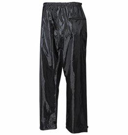 MFH Regenbroek Polyester met PVC zwart