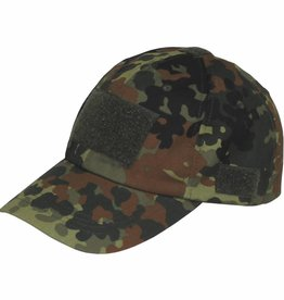 MFH High Defence Einsatz-Cap, mit Klett, Einheitsgröße, flecktarn