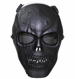 MFH High Defence Airsoftmasker 'Skull' zwart volledige aangezichtsbedekking