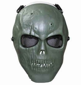 MFH High Defence Airsoftmasker 'Skull' legergroen volledige aangezichtsbedekking