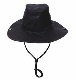 MFH Buschhut (Schlapphut),schwarz, mit Kinnband, zum Hochstellen