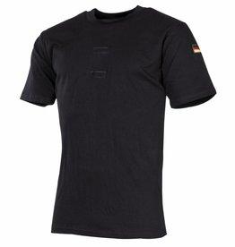 MFH Army Tropenhemd zwart Klitterband voor embleem