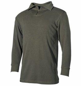 MFH Army Hemd met kraag Mod. olijf/legergroen met ritssluiting