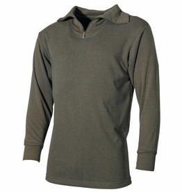 MFH Army pluche Hemd met kraag Mod. olijf/legergroen