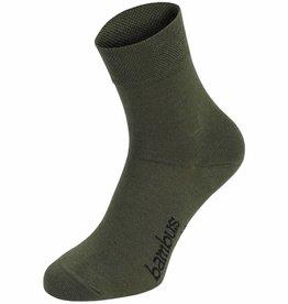 MFH Sokken 'Bambus' olijf/legergroen 3-er Pack
