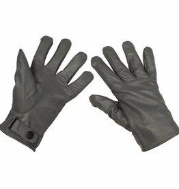 MFH Army leren handschoenen gevoerd grijs Mod.
