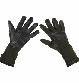 MFH Army Strijdhandschoenen zwart lang model met leren versteviging