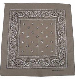 MFH Bandana beige-zwart Afmetingen 55 x 55 cm Baumwolle (set van 12)