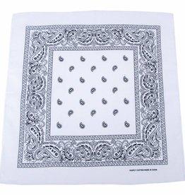 MFH Bandana wit-zwart Afmetingen 55 x 55 cm Baumwolle (set van 12)