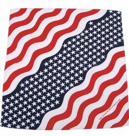 MFH Bandana Stars und Stripes Afmetingen 55 x 55 cm Baumwolle (set van 12)