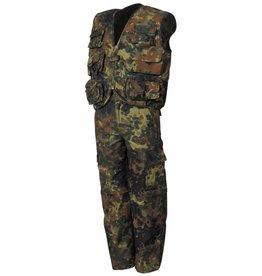 MFH Kinder-Anzug, flecktarn, Weste u. Hose,mit abnehmbaren Beinen