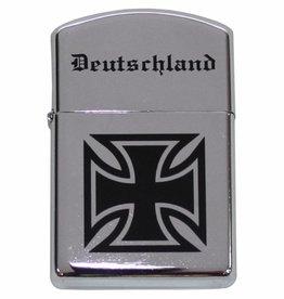"""MFH Benzin-Sturmfeuerzeug, chrom poliert, """"Deutschland"""""""