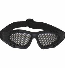 MFH Airsoftbrille, schwarz, Metall-Gittereinsatz, Deko