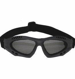 MFH Airsoft bril olijf/legergroen metalen gaas inzet Deko