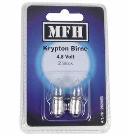 MFH Ersatzbirnen 4,8 V, 2 Stk., für Blocktaschenlampe